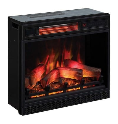 """Classic Flame 23II042FGL 23"""" 3D Infrared Quartz Electric Fireplace Insert with Safer Plug and Sensor, 1500 W, 23 inches"""