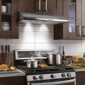 Cosmo COS-5MU36 36 in. Under Cabinet Range Hood Ductless Convertible Duct, Slim Kitchen Stove Vent with 3 Speed Exhaust Fan