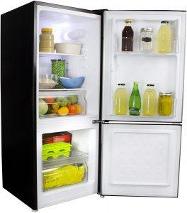 Danby DCR041C1BSLDB-6 4.1 Cu.Ft. Bottom Freezer Compact Fridge with Ultra Quiet Silencer