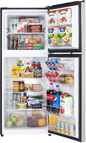 Danby DFF101B1BSLDB Apartment Size Top Freezer Refrigerator
