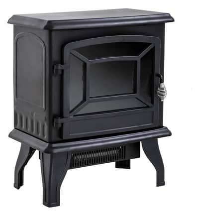 """FDW Electric Fireplace Heater 20"""" Freestanding Fireplace Stove Portable Space Heater with Thermostat and Realistic Log Flame Effect"""