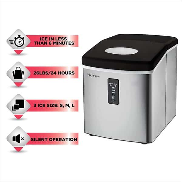 Frigidaire countertop ice maker silent operation