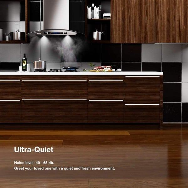 range hood noise level ultra quiet